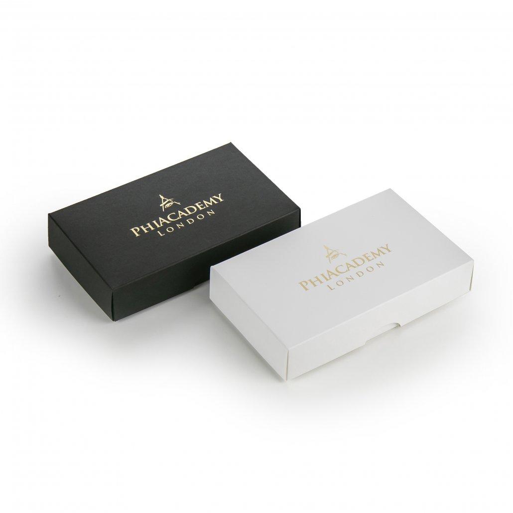 Dviejų dalių dėžutės su auksine folija