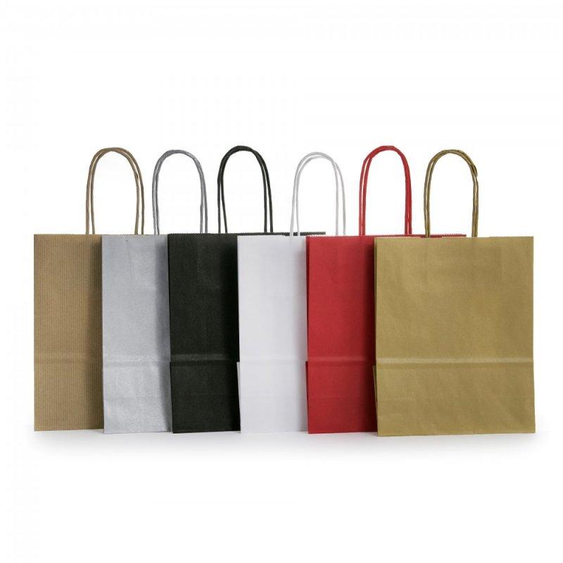 Spalvoti maišeliai susuktomis rankenėlėmis