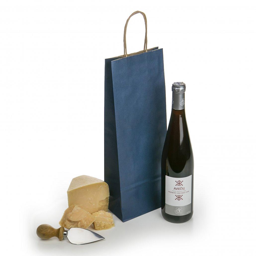 Tamsiai melynas maiselis vyno buteliams