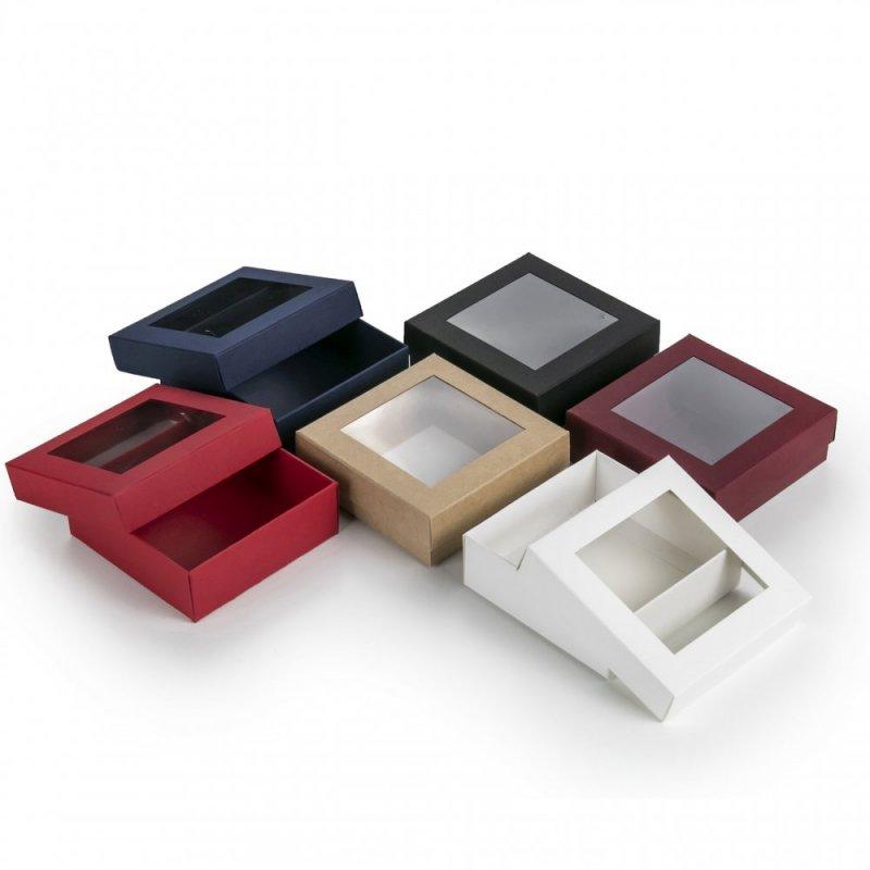 Dviejų Dalių Dėžutės 90 x 90 x 30 mm su Langeliu (2)